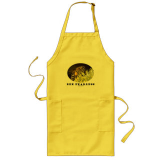 Bee Fearless (Bee On Yellow Flower) Long Apron