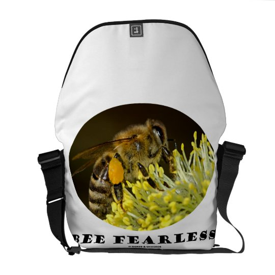 Bee Fearless (Bee On Yellow Flower) Messenger Bag