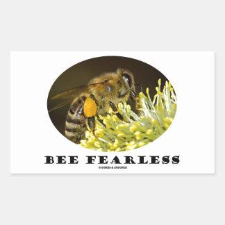 Bee Fearless (Bee On Yellow Flower) Rectangular Sticker