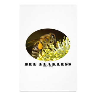 Bee Fearless (Bee On Yellow Flower) Stationery