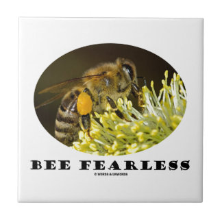 Bee Fearless (Bee On Yellow Flower) Tile