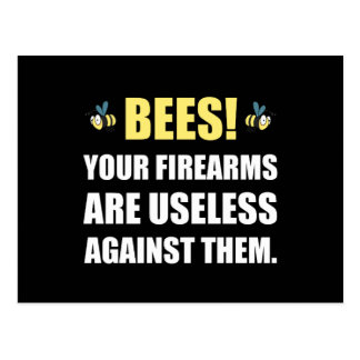 Bee Firearms Useless Postcard