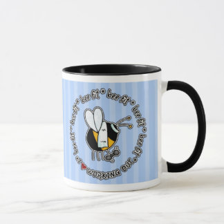 bee fit - working out mug