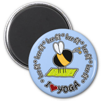 bee fit - yoga magnet