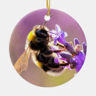 Bee Flower Beautiful Nature Scenery Ceramic Ornament