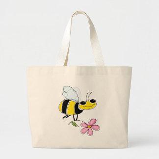 Bee & Flower Canvas Bag