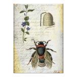"Bee Flower Hive 5"" X 7"" Invitation Card"