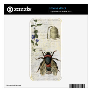 Bee Flower Hive Decals For The iPhone 4S