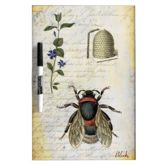 Bee Flower Hive Dry-Erase Board
