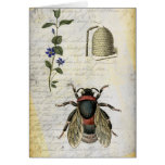 Bee Flower Hive Greeting Card