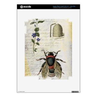 Bee Flower Hive iPad 3 Decal
