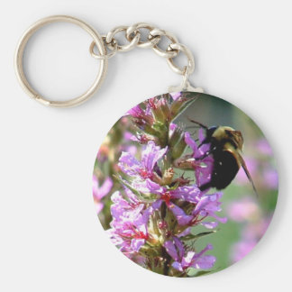 Bee Flower Keychain