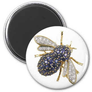 Bee Fly Sapphires Diamonds Vintage Costume Jewelry Magnet
