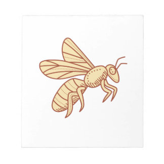 Bee Flying Mono Line Notepad