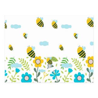 Bee Flying Postcard