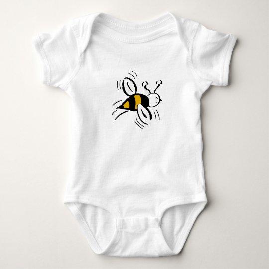 Bee Free Honey and Black Baby Bodysuit