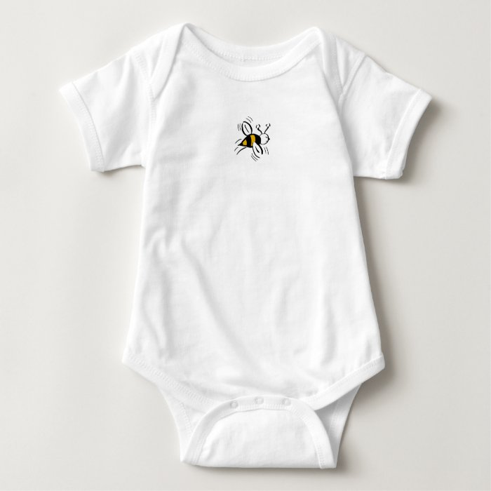 Bee Free Honey and Black - Baby Bodysuit