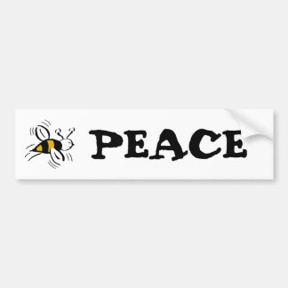 Bee Free Honey and Black Bumper Sticker