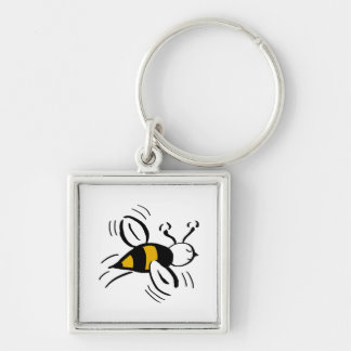 Bee Free Honey and Black Key Chains