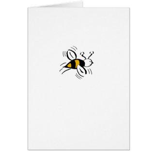 Bee Free Honey and Black Mini Card