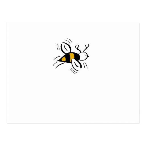 Bee Free Honey and Black Mini Postcards