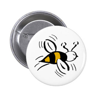 Bee Free Honey and Black Pinback Button