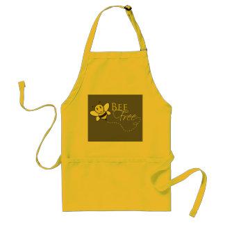 Bee Free Inspirational Design Adult Apron