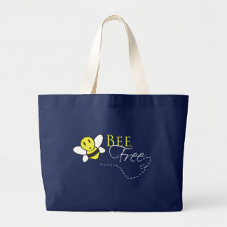 Bee Free Inspirational Design Canvas Bags