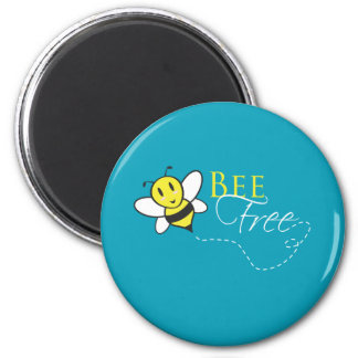 Bee Free Inspirational Design Magnet