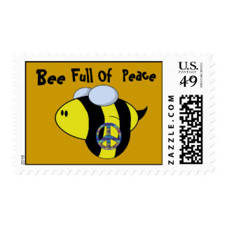 """Bee Full Of Peace"" Postage"