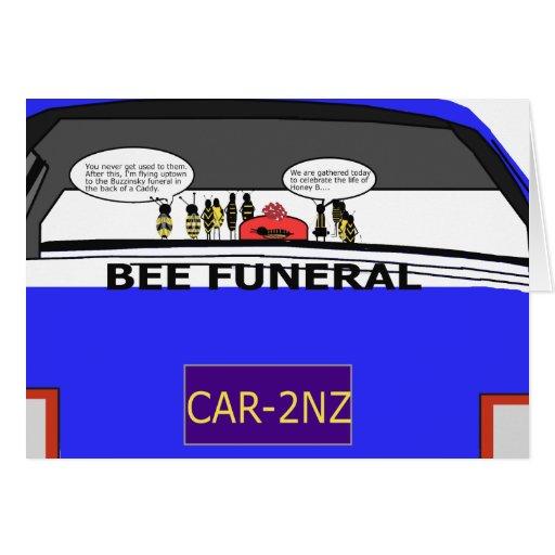 Bee Funeral Notecard (blank inside) Cards