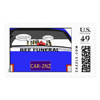 Bee Funeral Stamp