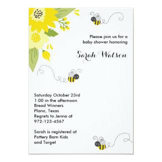 Bee Garden Baby Shower Invitations