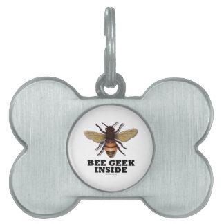 Bee Geek Inside Pet Name Tag
