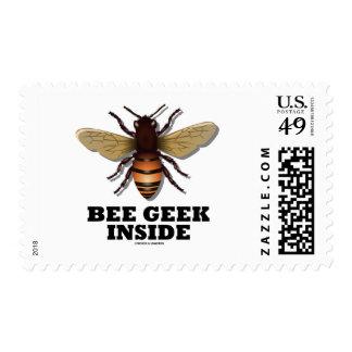 Bee Geek Inside Postage Stamp