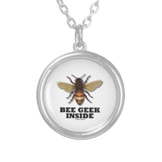 Bee Geek Inside Silver Plated Necklace