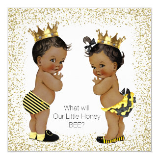 Bee Gender Reveal Baby Shower Card