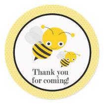 Bee Gender Reveal Baby Shower Favor Stickers