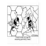 Bee Geometry Postcard