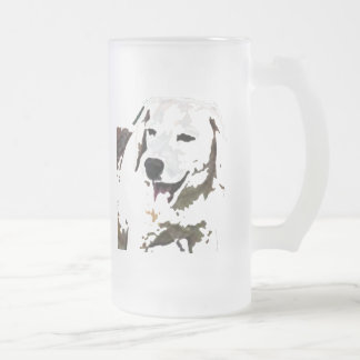 Bee-Giggle Frosted Glass Beer Mug