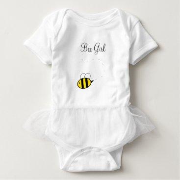 Toddler & Baby themed Bee Girl Bodysuit Tutu