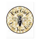 Bee Girl Postcard