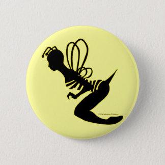 Bee Girl Silhouette Button