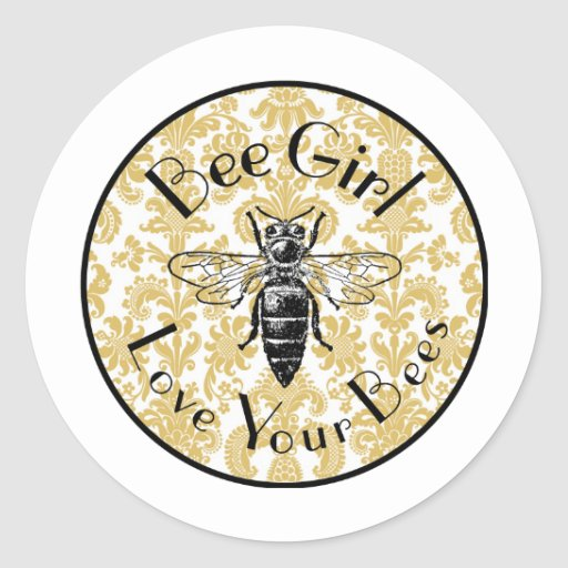 Bee Girl Sticker