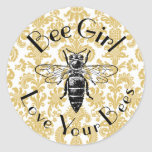 Bee Girl Stickers