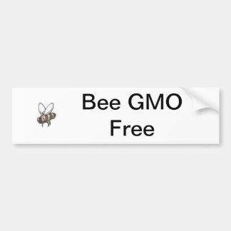 Bee GMO Free Bumper Stickers