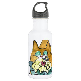 Bee Goes Buzzzzz, Fascinating to Kitten Lucy Stainless Steel Water Bottle