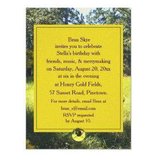 Bee & Goldenrod Birthday Celebration Party 6.5x8.75 Paper Invitation Card