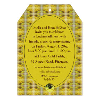 Bee & Goldenrod Lughnasadh Lammas Harvest Personalized Invitations