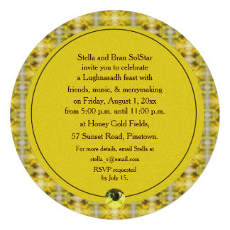Bee & Goldenrod Lughnasadh Lammas Harvest Personalized Invitation